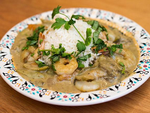 Curry de langostinos