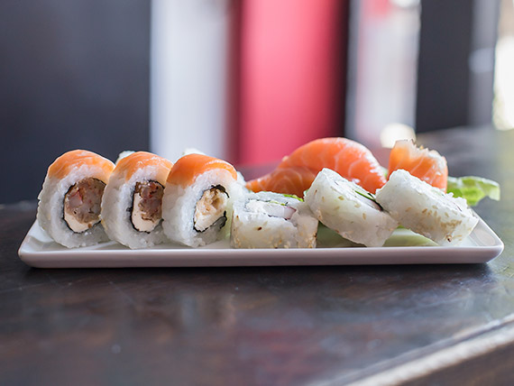 Tabla 12 piezas de sushi