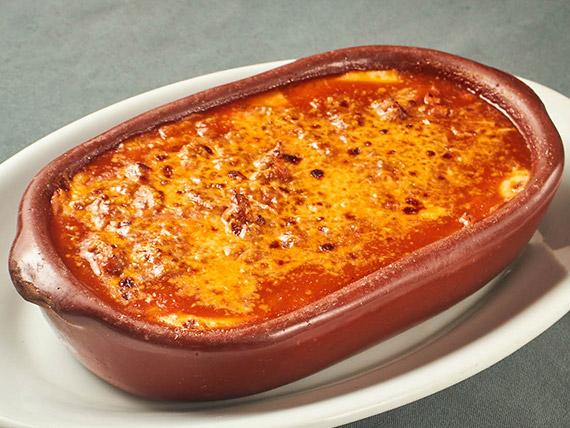 Lasanha ou Rondele - bolonhesa (gratinada no forno a lenha)
