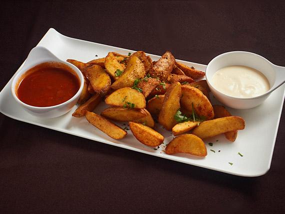 Porção batatas bravas