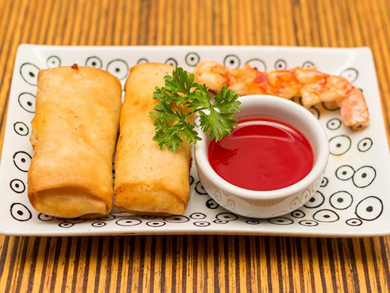 Harumaki de camarão (2 unidades)