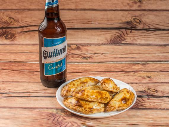 Promo - 12 empanadas + gaseosa Pepsi 1.5 L o cerveza Quilmes 1 L