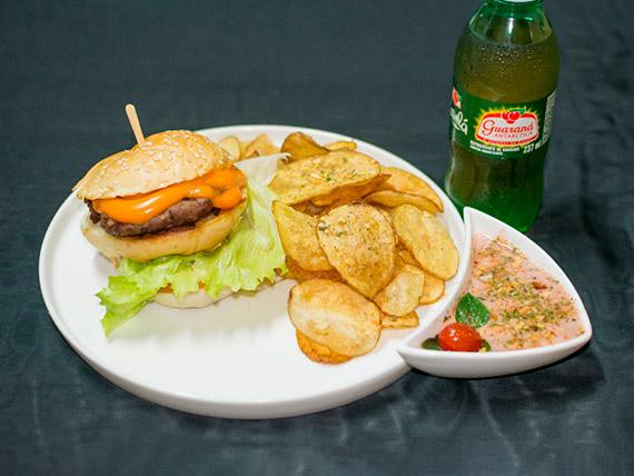 Combo - nº 1 – KID's BURGER + Refrigerante + Batata frita
