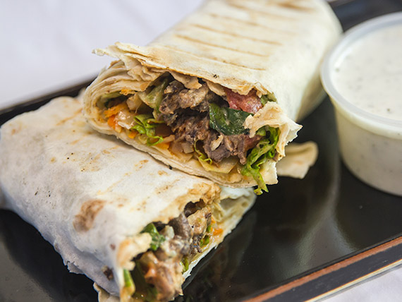 Shawarma común de carne