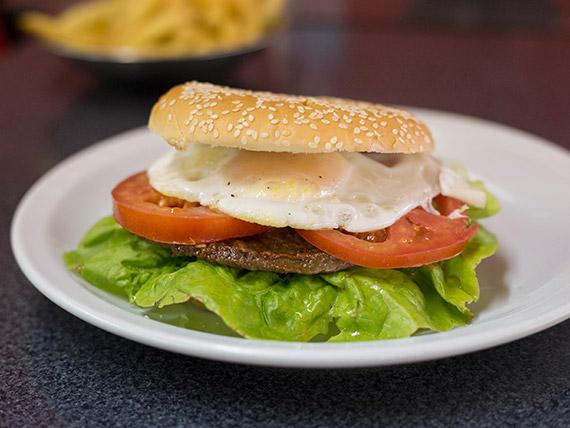 Sándwich de hamburguesa gigante
