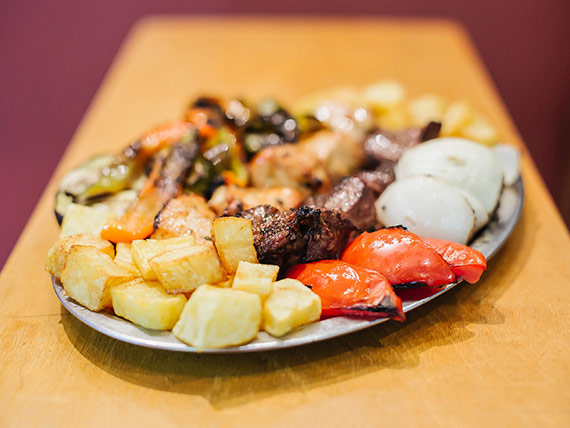 Super shish kebab mixto