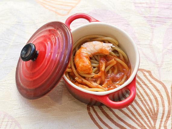 Spaghetti com molho de camarão (individual)