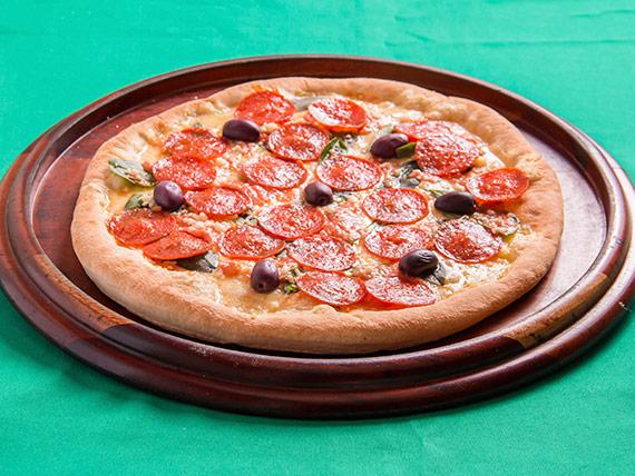 Pizza marguerita com peperoni