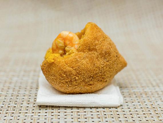 Coxinha gourmet bobó de camarão (1 unidade)