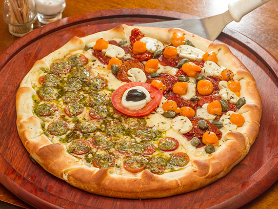 Pizza grande 3 sabores