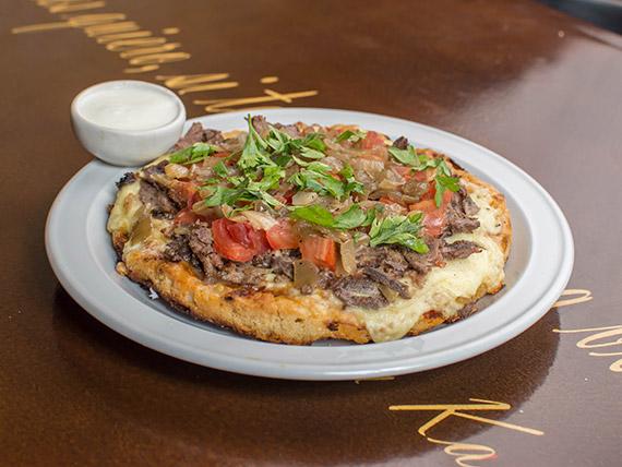 Pizzeta de shawarma