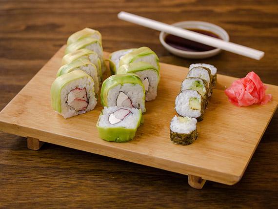 Menú sushi frío - 15 bocados fríos + bebida