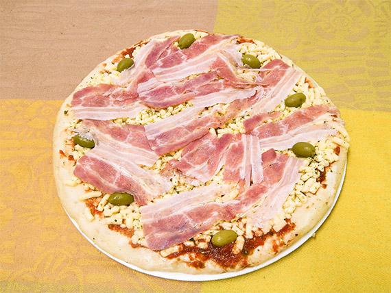 Pizza con panceta (para hornear)