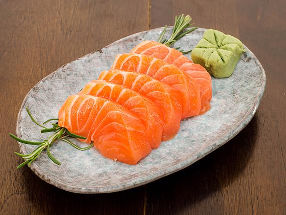 Sashimi de salmão (5 unidades)