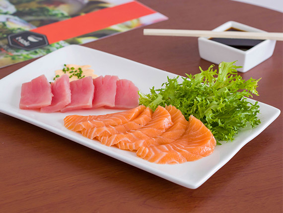 70 - Sashimi de salmón (5 cortes)
