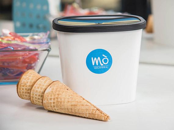 Promo - Pote helado 850 ml + 3 conos