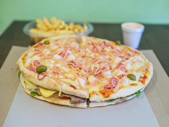 Lomo Pizza palmitos (4 personas)