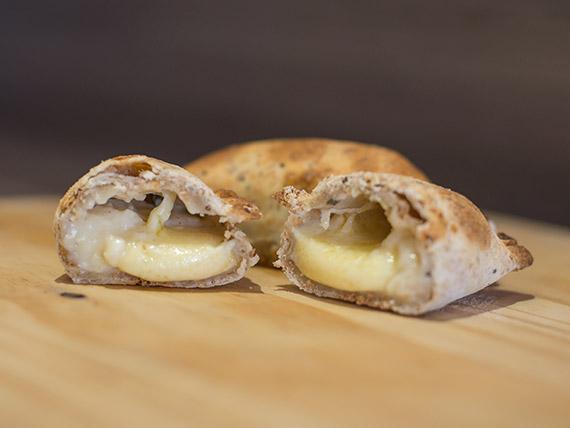 Empanada integral de puerros
