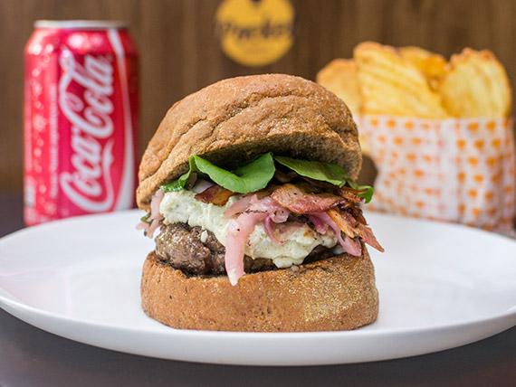 Combo - Burger Kanguru + refrigerante lata + chips