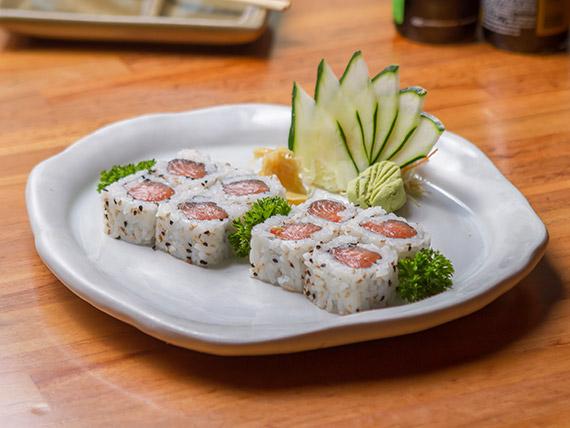 Uramaki salmão (8 unidades)