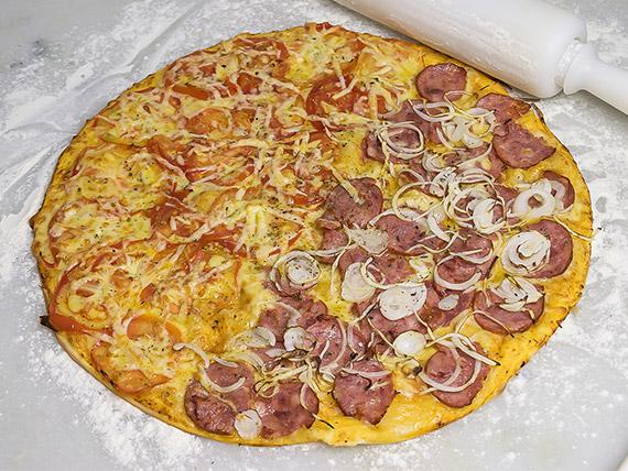 Pizzas meio a meio gigante