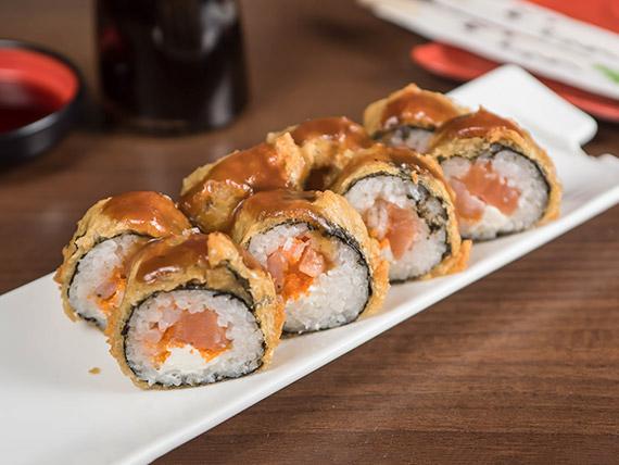 Sofisticado futomaki tempura (8 piezas)