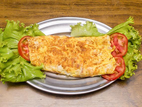 123 - Omelete com queijo e presunto