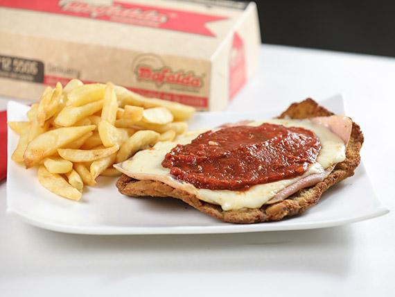 Promo 4 - Mila napolitana con fritas rústicas