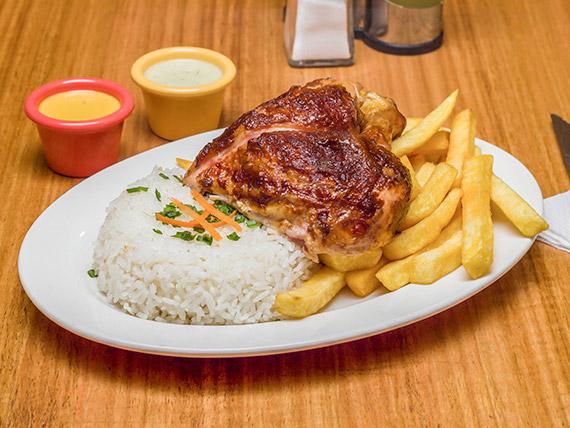 Promo 1 - 1/4 pollo asado + 2 agregados