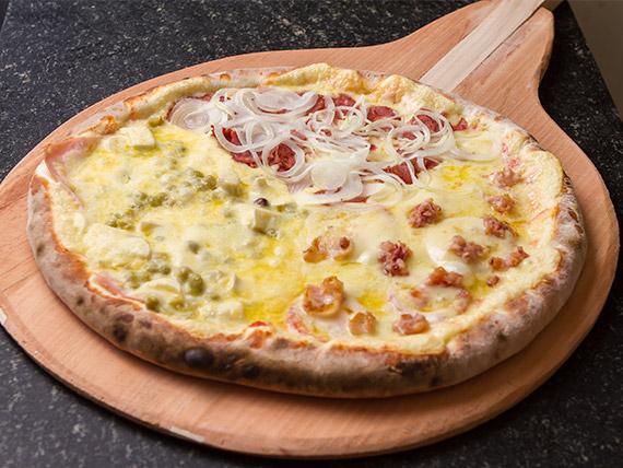 Pizza normal três sabores