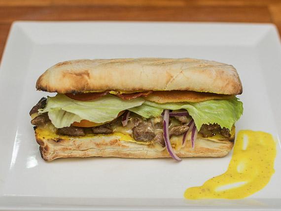 Burger filé de mostarda e alho