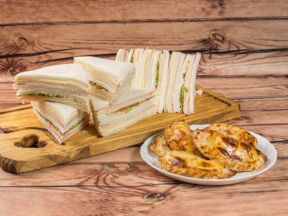 Promo - 12 empanadas + 12 sándwiches triples