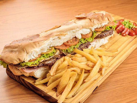Torpedo big burger (para tres personas)