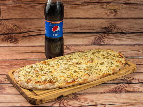 Promo - Pizza muzzarella (12 porciones) + bebida