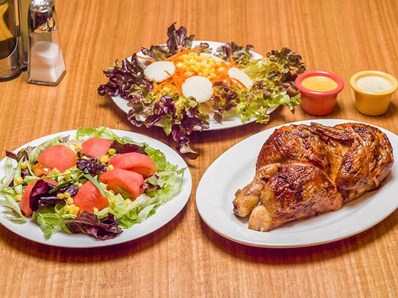 Promo 2 - 1/2 pollo asado + 4 agregados