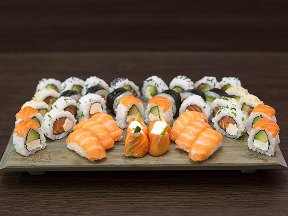 Combo salmón XL (40 piezas)