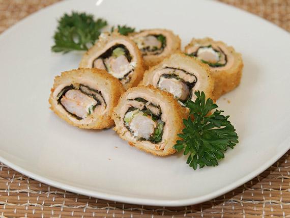 Mokimono ebi salmão roll (10 peças)