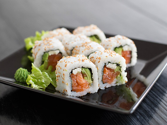 New York roll con queso Philadelphia (8 unidades)