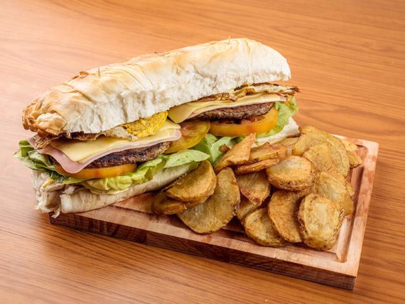 Torpedo de hamburguesa especial ¡Nuevo! (para dos o tres personas)