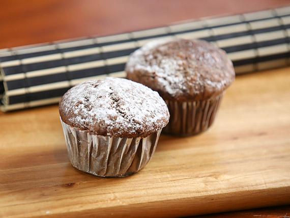 Muffin de cacao y banana vegano