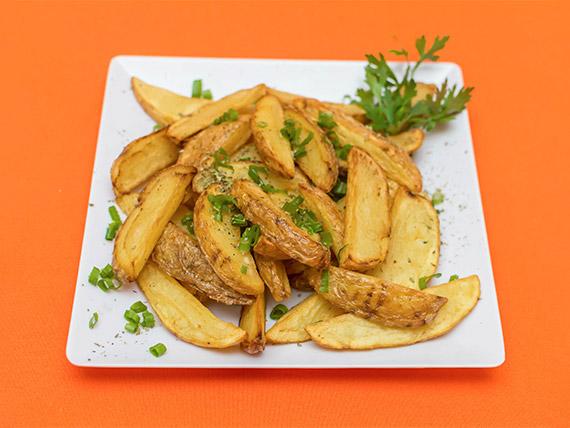 Porção de batatas rústicas (400 g)