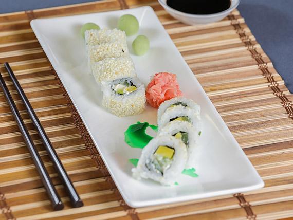 Vegetariano roll (10 piezas)