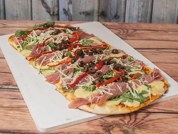 Pizza jamón crudo