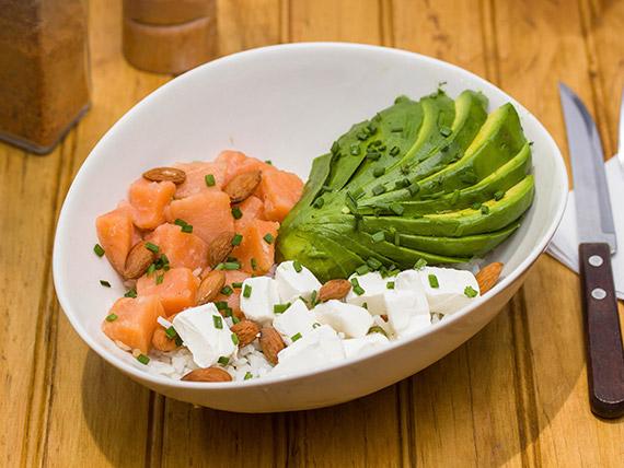 Wok&bol de salmón