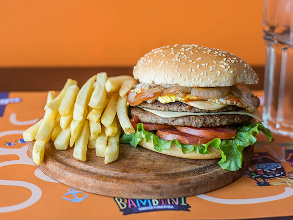 Burger doble titán