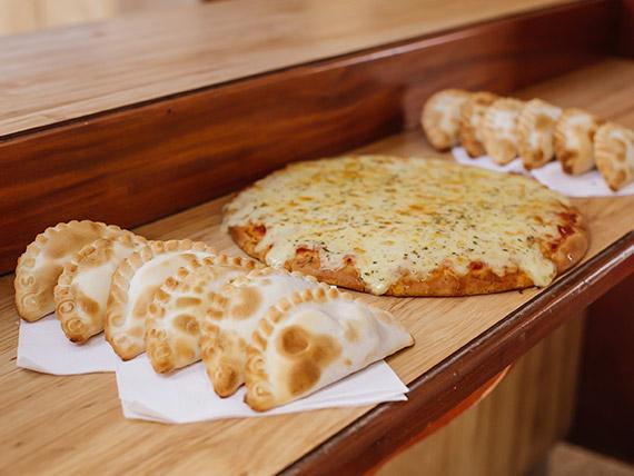 Promo - Pizza grande de muzzarella + 12 empanadas