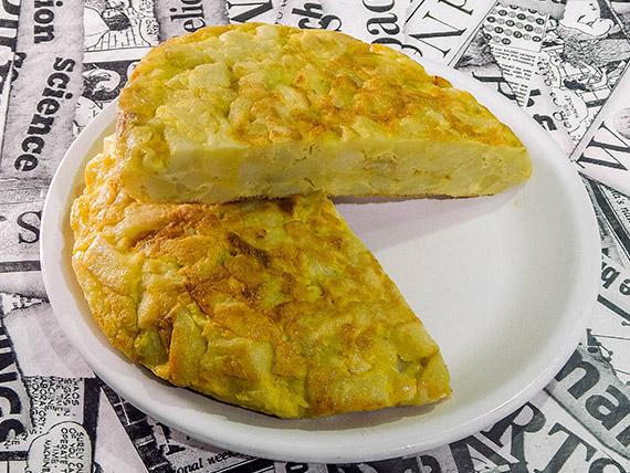 Tortilla de papa y huevo
