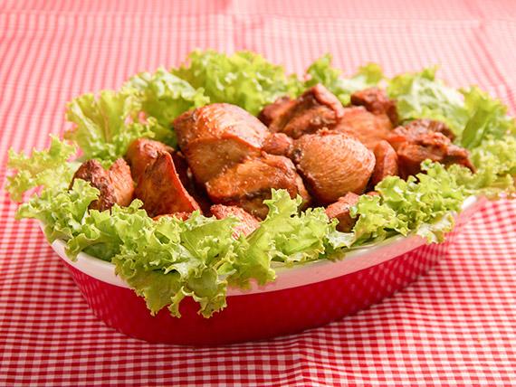 Porção frango a passarinho especial tradicional - 100% Peito