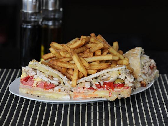 Sándwich de pollo completo (para dos)