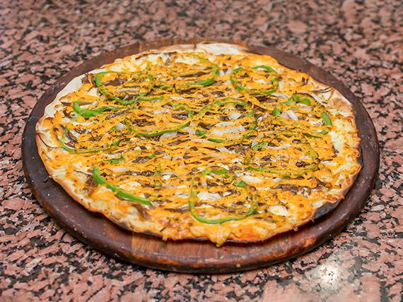 Pizza carne de sol com cheddar